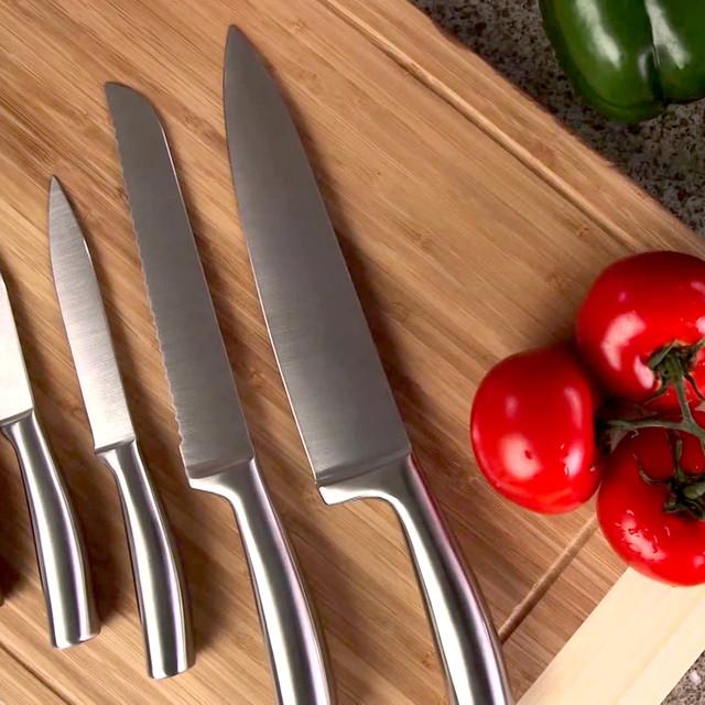 Ножі і ножиці кухонні з нержавіючої сталі