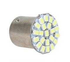 Светодиодная лампа белая 1157 BAY15D 3020 из 22 светодиодов СМД P21 / 0,5 Вт  P21w