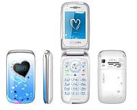 W708 женский раскладной flip телефон со стразами*2SIM
