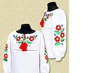 Вышитая блуза для девочки Цветочная радость