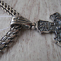 Серебряный крестик с распятием, 6 грамм, фото 3