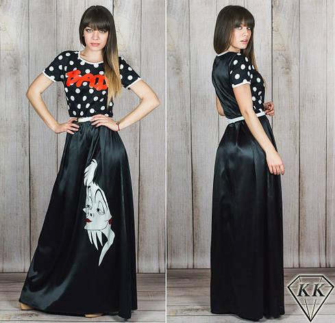 Черное платье 152041 в пол, фото 2