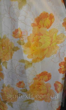 """Тюль друк """"Квіти з квітами"""", фото 2"""