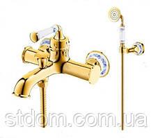 Смеситель для ванны с душевым гарнитуром ,золото Venezia Emparador 5010101