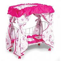 Кроватка для кукол металлическая 9350/015