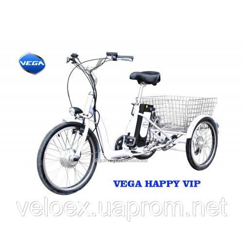 Трехколесный электровелосипед VEGA Happy VIP