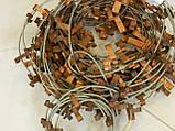 Медные крепления с тросиком для кабеля в водосточных трубах, фото 2
