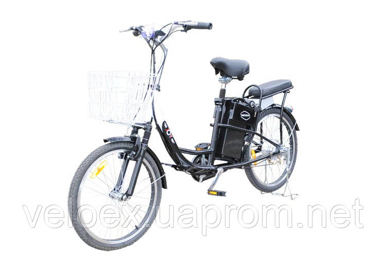 Электровелосипеда VEGA JOY черный, синий
