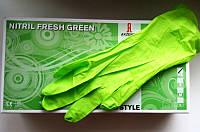Перчатки нитриловые Akzenta зеленые(100 шт)