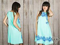 Ментоловое платье 152042