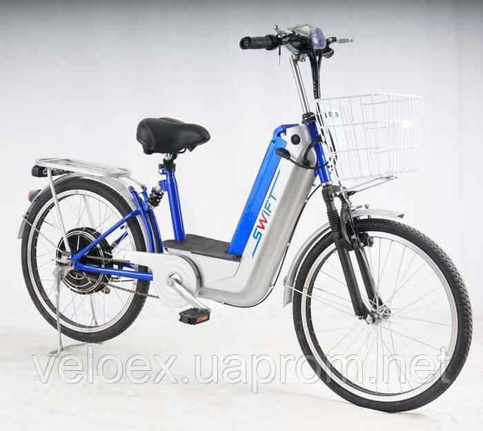 Электровелосипед VEGA Swift красный, синий