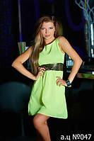 Шифоновое платье ца047
