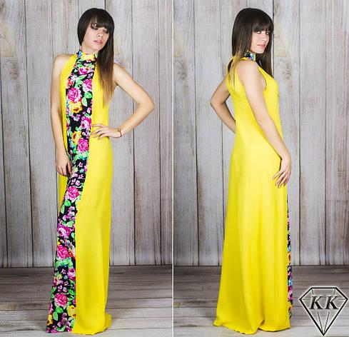 Желтое платье 15885 , фото 2