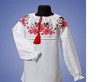 Вышитая блуза для девочки Калина красная