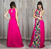 Платье 15885 (малиновое-цветы)