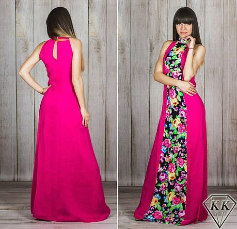 Малиновое платье 15885, фото 2