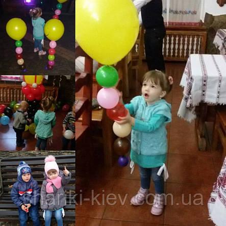 Веселый Смайл на ножке с грузиком из воздушных шариков на День рождения , фото 2