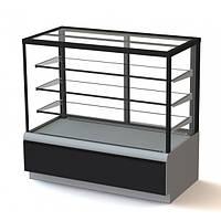 Витрина холодильная кондитерская Полюс ВХСв-1,3д Carboma Cube (ТЕХНО)