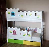 """Двухъярусная кровать """"Принцесса"""" + """"Автомобильчик"""" для двоих деток! , фото 1"""