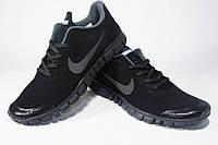 Кроссовки Nike Free 3.0 V2 All черные c серым, фото 1