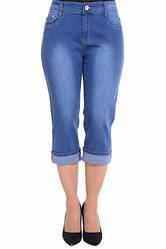 Бриджи джинсовые норма и батал