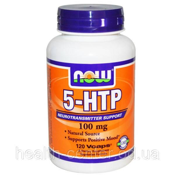 5-HTP (триптофан) 60 капс 100 мг Антидепрессанты, сон антистресс  Now Foods USA