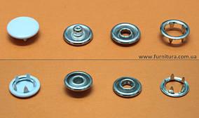 Кнопка трикотажная FB D-9,5 мм- закрытая шляпка белая