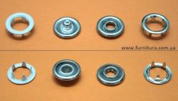 Кнопка трикотажная FB D-9,5 мм- с эмалью белая