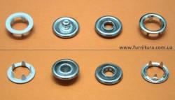 Кнопка трикотажная FB D-9,5 мм- с эмалью белая, фото 2