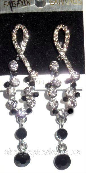 """Красивые серьги с кристаллами под вечерний наряд - Интернет-магазин """"ShoesOpt"""" в Одессе"""