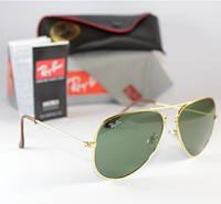 Cтильные солнцезащитные очки Aviator RB 3026 black, фото 1