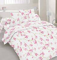 Постельное белье Розовые цветы, бязь (евро)