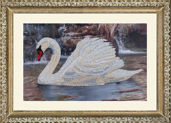"""Набор для вышивания бисером """"Лебедь"""", фото 2"""