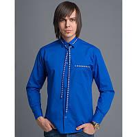 Мужская вышитая рубашка «Вузлик синій»