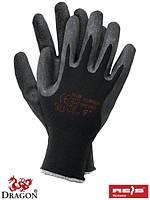 Рабочие перчатки нейлоновые с латексным покрытие, 7-11 размеры, Польша
