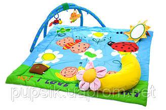 """Развивающий музыкальный коврик с дугами """"Райский сад"""" Biba Toys"""