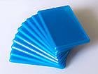 Акриловые фотомагниты на холодильник, прямоугольные 95х65 мм. Цвет голубой, фото 3