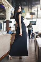 Платье в пол из дайвинга с коротким рукавом ( 5 расцветок)203, фото 1
