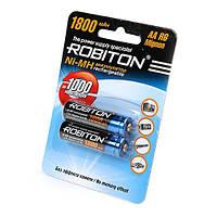 Пальчиковые аккумуляторы АА/НR6 1800mAh ROBITON 1800MHAA-2