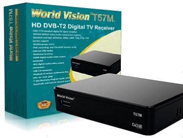 т2 тюнер World Vision T57M