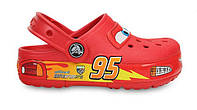 Crocs детские  Cars CrocsLights Clog Red