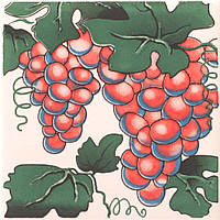 Плитка Атем Орли настенная декор Atem Streza Grape 100x100 мм