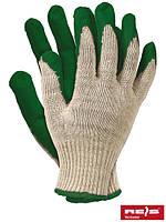 Рабочие перчатки хлопковые с резиновым покрытие, 9 размер, Польша