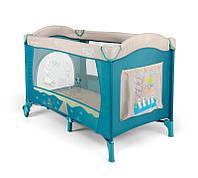 Манеж - кровать Milly Mally Mirage blue-bird