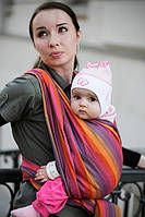 Слинг-шарф Baby Sling, Broken Twill Weave (bamboo + cotton) - Sunset Rainbow
