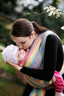 Слинг-шарф Baby Sling, Broken Twill Weave (bamboo + cotton) - Sunrise Rainbow