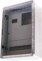Шкаф ударопрочный из АБС-пластика e.plbox.400.500.175.3f.6m.tr, IP65 с проз. дв. панелью под 3ф сч. и 6 мод.