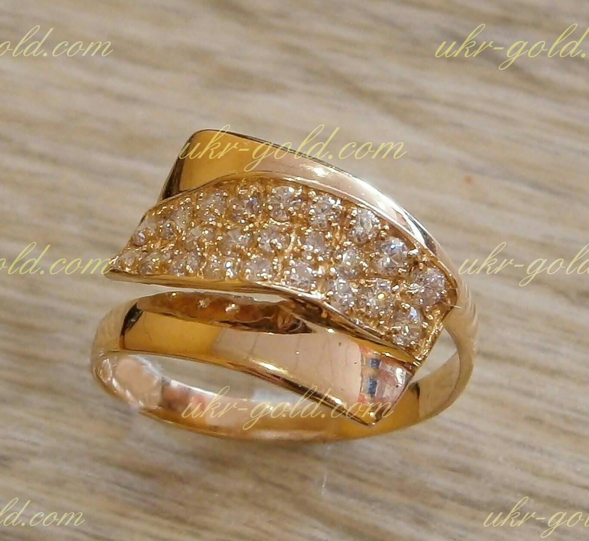 Золотое кольцо женское с цирконием. 2053f788fb7b5