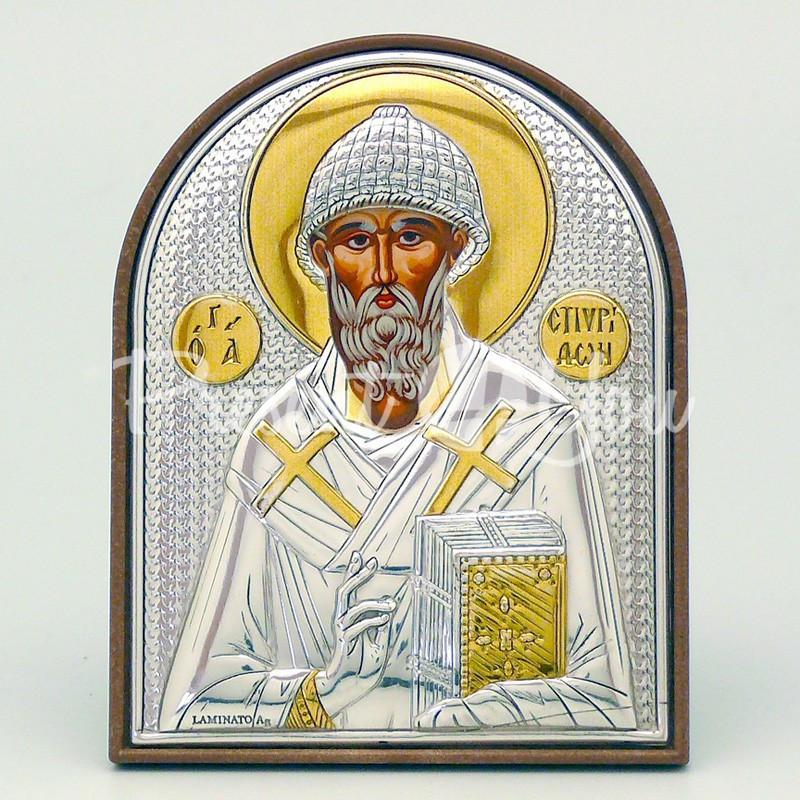 Икона «Святого Спиридона Тримифунтского», 6х7 см.