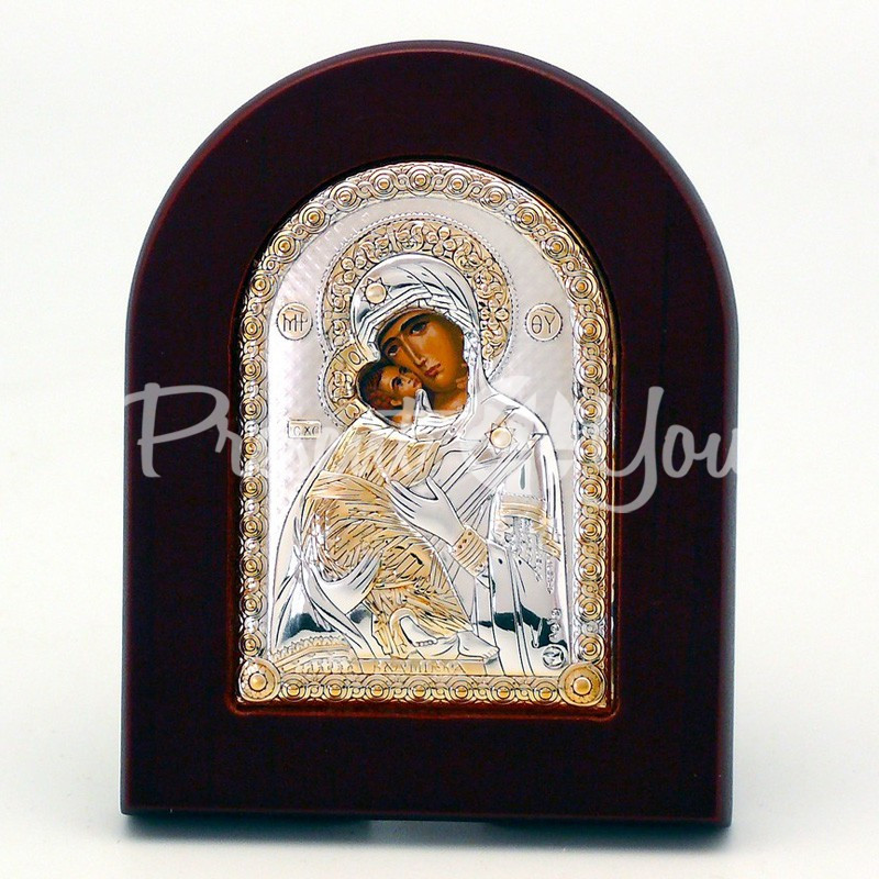 Владимирская икона Божией Матери, 7х9 см.